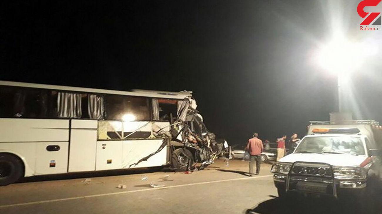 تصادف اتوبوس و تریلی در اصفهان / 7 تن زخمی شدند