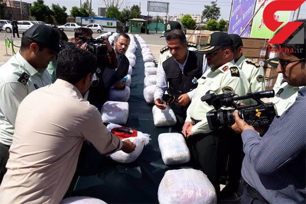 کشف یک تن و ۴۰۰ کیلوگرم حشیش و تریاک در شرق تهران