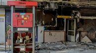 حمله به پمپ بنزین در قزوین با کوکتل مولوتف