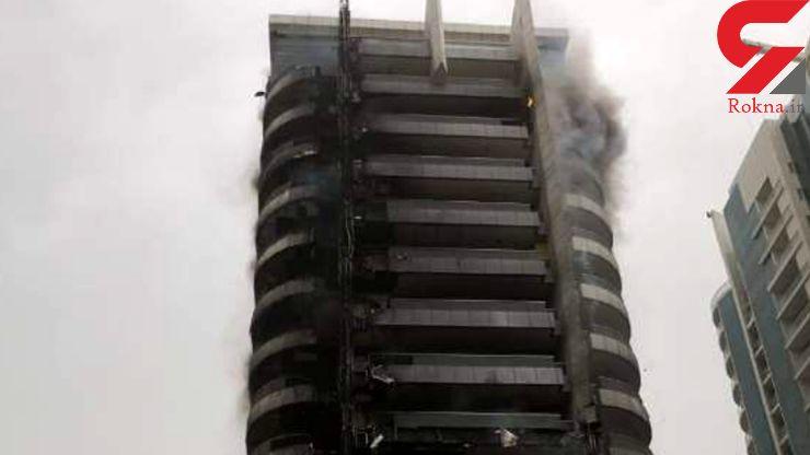 آتش سوزی در برج دوبی +تصاویر
