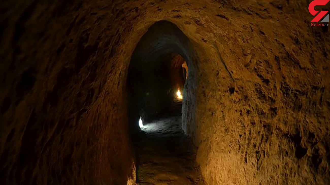 کشف 25 تابوت و جنازه در تونل مخفی زیر شهر کرمانشاه + عکس