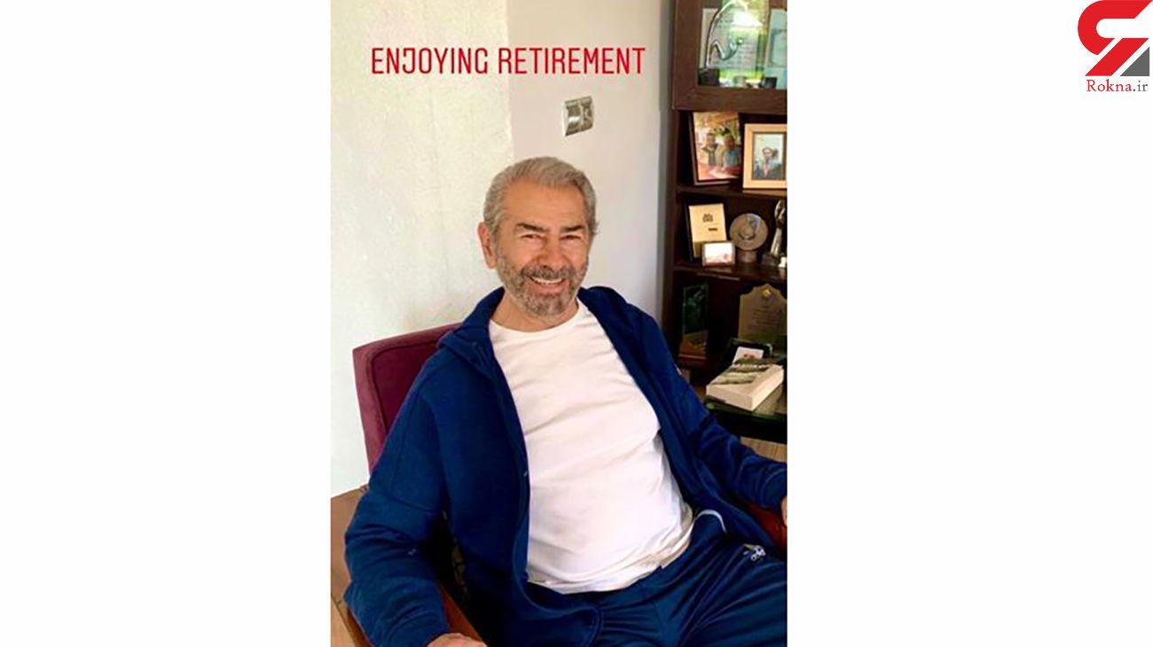 فرامرز قریبیان در حال لذت بردن از بازنشستگی در خانه اش + عکس