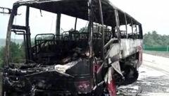 26 گردشگر چینی در اتوبوس زنده زنده جزغاله شدند+عکس