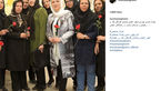 مانتو متفاوت نیوشا ضیغمی با طرحی خاص و کفش هایی طلایی اش+عکس
