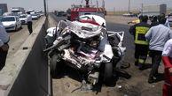 3 مصدوم در تصادف تریلی با کوییک