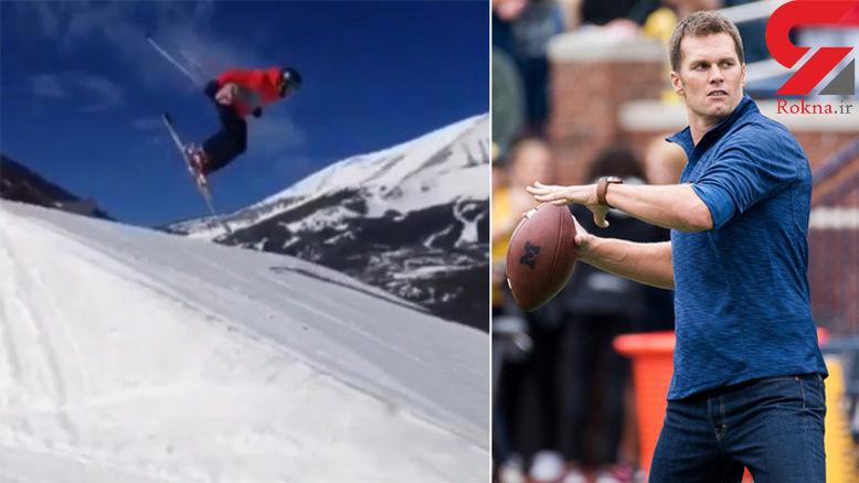 حادثه برای فوتبالیست معروف هنگام اسکی در پیست برفی+فیلم