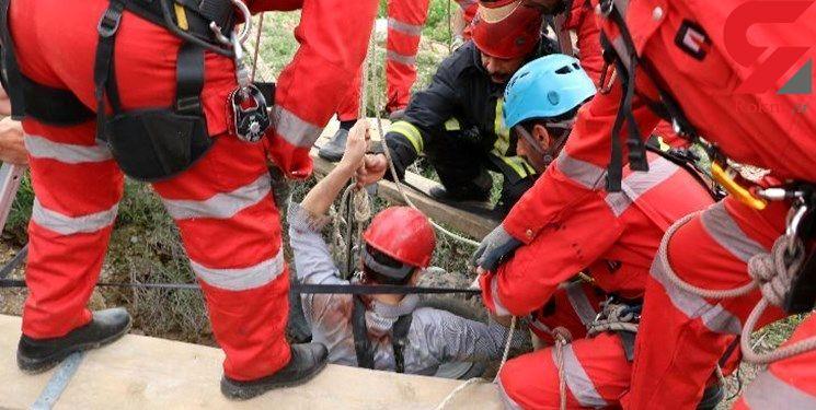 سقوط کارگر مشهدی  در چاه 120 متری/ به علت نامعلومی سقوط و فوت کرد