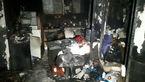 جسد مرد 38  ساله با پاهای بسته در میان شعله های آتش یک خانه در چهارراه بی سیم +عکس