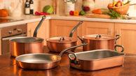 محلول خانگی برای تمیز کردن سه سوته ظروف مسی