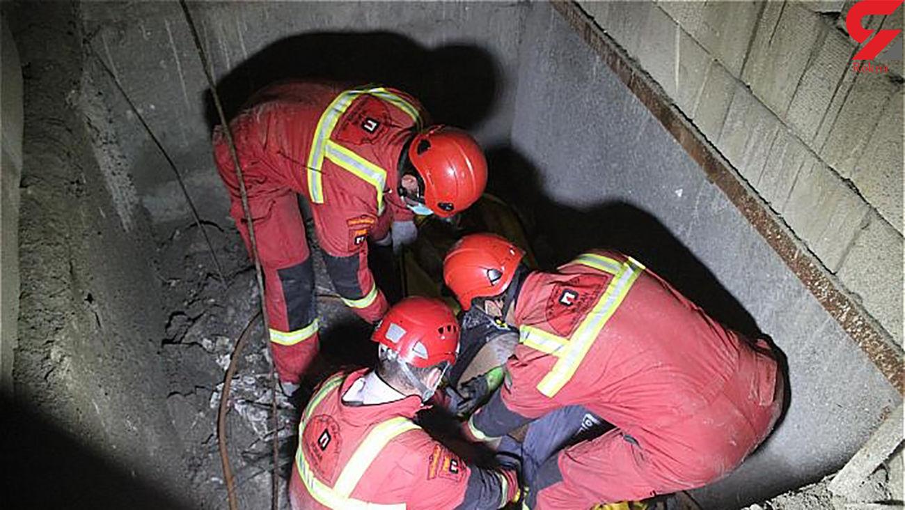 سقوط کارگرجوان به داخل چاهک آسانسورساختمان درحال ساخت