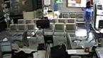 فیلم هایی از حمله دزد مسلح  به بانکی در فردیس