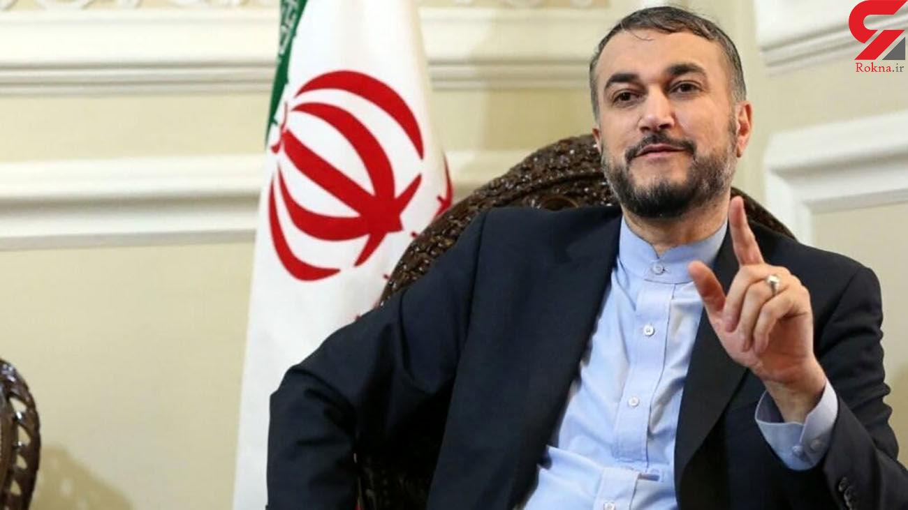 امیرعبداللهیان: دولت آمریکا با حفظ تحریمهای ضد ایرانی نشانه منفی ارسال میکند