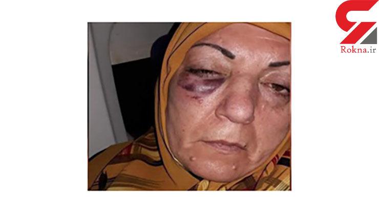 جنجالی کردن کتک خوردن یک زن عراقی در فرودگاه مشهد + فیلم و عکس