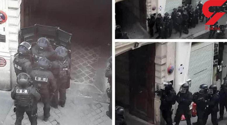 گریختن یکی از گروگان های منطقه 10 پاریس + فیلم و عکس