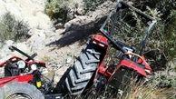 مرگ دردناک کشاورز ایلامی در واژگونی تراکتور