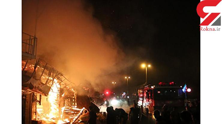 آتش سوزی در پیربازار رشت+عکس
