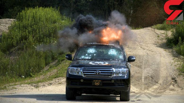 حمله آتشین به خودروی خاص شخصیت ها را ببینید + عکس و فیلم