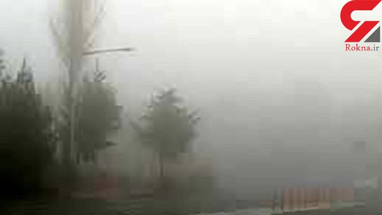 مه شدید در خراسان شمالی