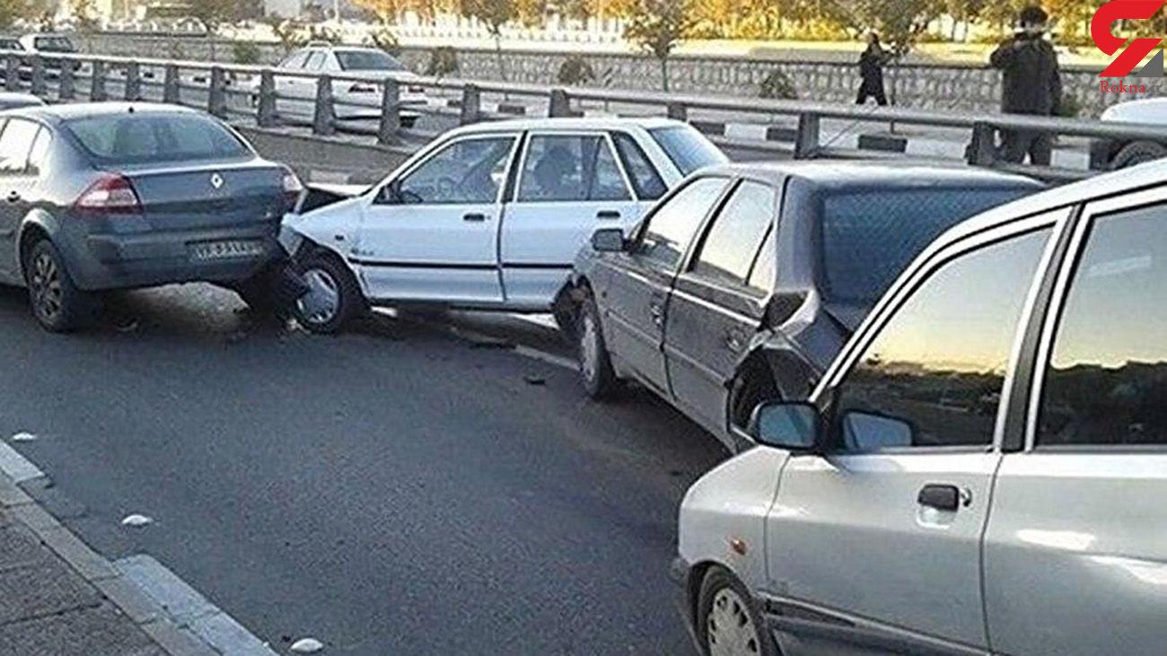اسامی مصدومان تصادف زنجیره ای آزادراه کرج - قزوین