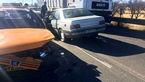 سانحه رانندگی در کمربندی نسیم شمال قزوین +عکس