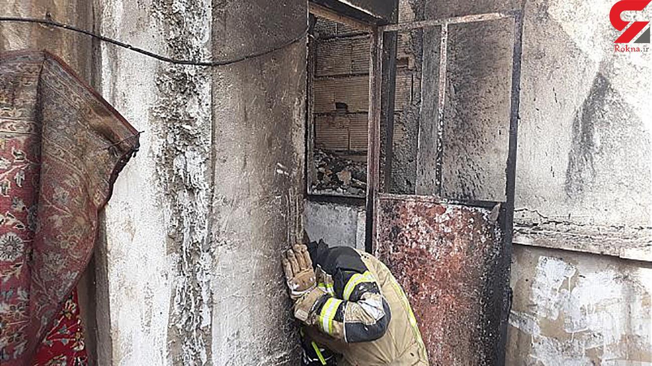 آتش سوزی خانه مسکونی در تهران