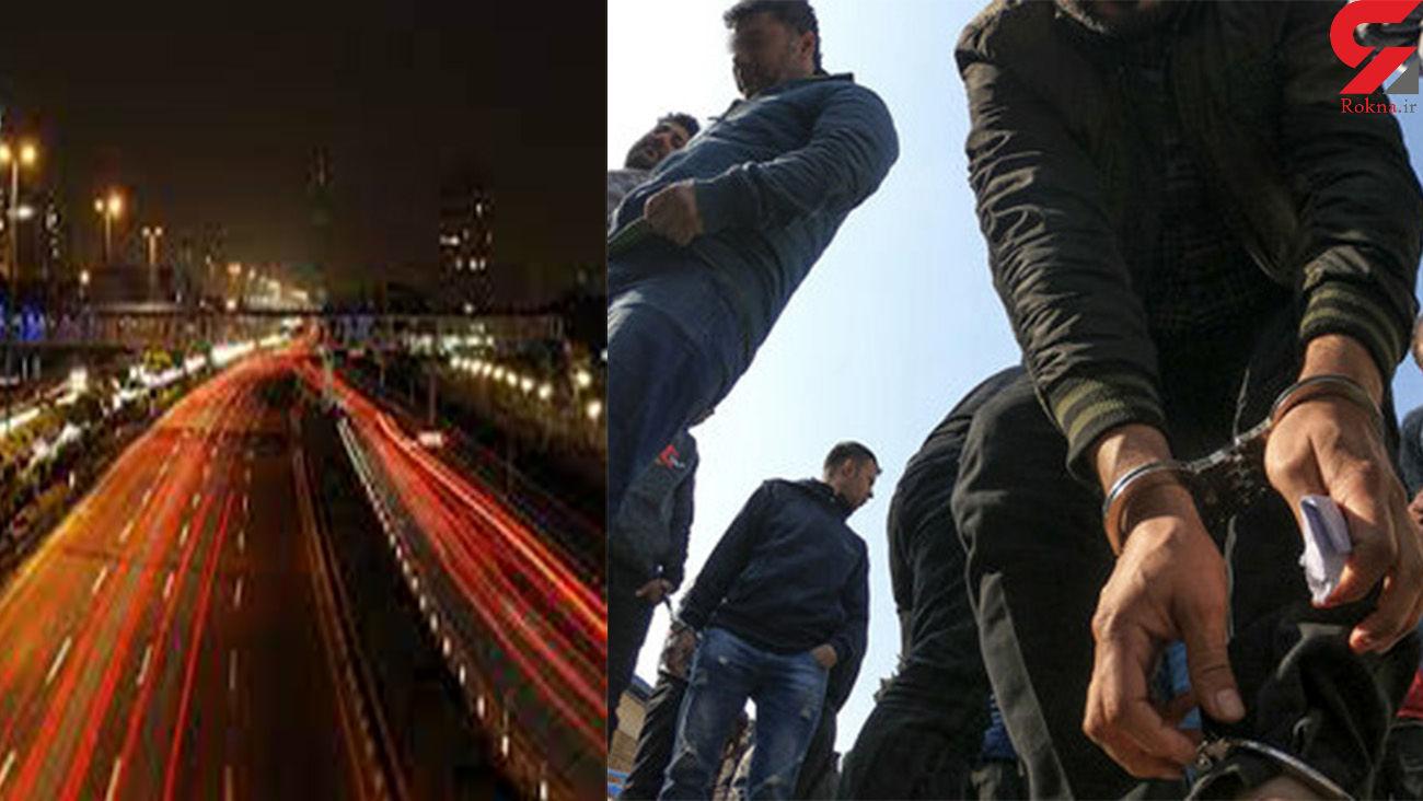 پایان جولان 4 شرور شمشیر به دست در تهران / آنها اتوبان ستاری را بسته بودند + عکس