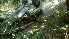عکس / سقوط پراید به دره در مسیر کاخ ناصری