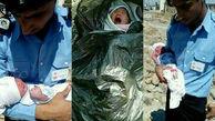 شوک در کهنوج / نوزاد را در کیسه زباله انداختند + عکس تکاندهنده