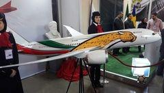 عکس ماکت هواپیمای اختصاصی تیم ملی فوتبال ایران