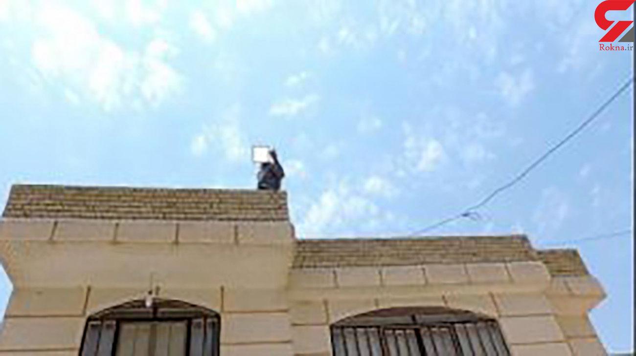 عکس لحظه خودکشی یک پیرمرد در ارسنجان ! + علت