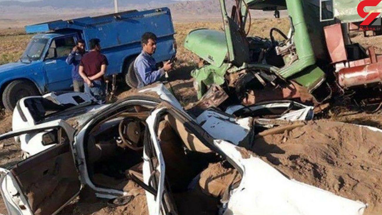 تصادف وحشتناک در نیشابور / پدر و دختر در دم جان باختند