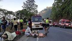 ۳۹ کشته و زخمی در حادثه سقوط اتوبوس در اکوادور