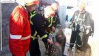 آتش گرفتن مرد 50 ساله در خیابان کشاورز+ عکس