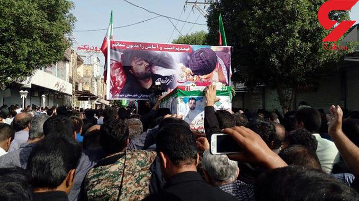 تشییع پیکر شهید نیروی انتظامی در جیرفت