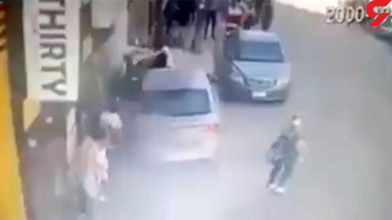 آقازاده کودک فاجعه آفرید / او 2 زن و یک بچه را زیر گرفت + فیلم صحنه / قاهره