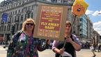 اعتراض های عروسکی اهالی لندن به ترامپ +تصاویر