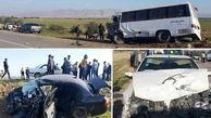 تصادف خونین چند خودرو در دهلران + عکس محل حادثه