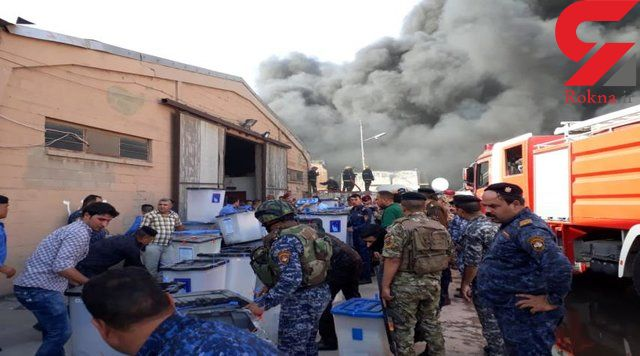 آتشسوزی مخازن رای گیری در بغداد عمدی بود+عکس