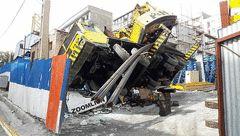 سقوط خونین جرثقیل 60 تنی در شهرک غرب+ تصاویر