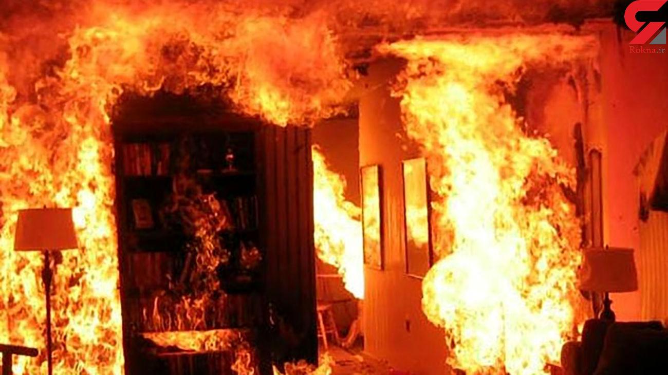 آتش سوزی مهیب در شهرک دانشگاه