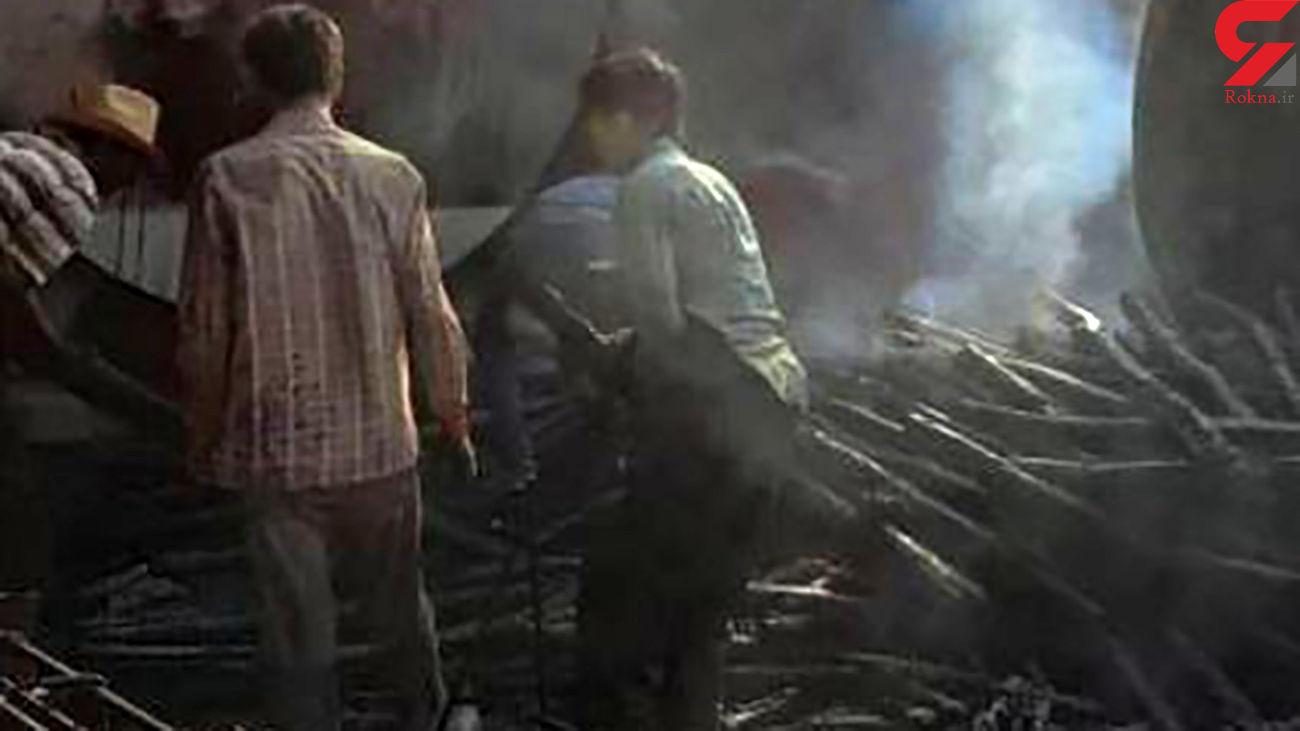 آتش سوزی مخازن گازوئیل در شهرک صنعتی یزد