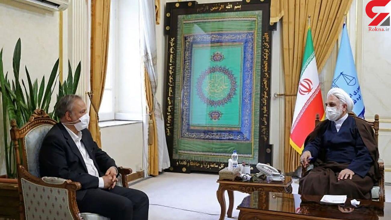 وزیر صمت به دیدار رئیس قوه قضاییه رفت