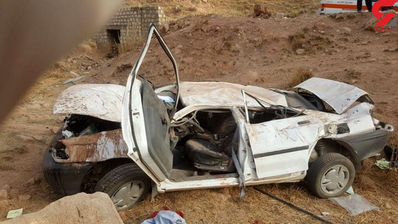 واژگونی خودرو در اردکان ۳ کشته و ۲ مجروح برجا گذاشت