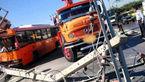 تصادف مرگبار اتوبوس شرکت واحد در مشهد +تصاویر