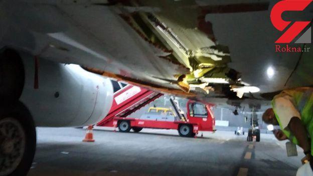 برخورد هواپیمای مسافربری با دیوار هنگام تیک آف!