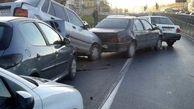 مصد.ومیت 14 زائر در تصادف زنجیره ای / در محور کرمانشاه-اسلامآباد غرب رخ داد