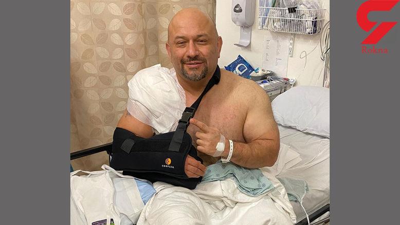 تصادف مربی بدنسازی ایرانی در آمریکا / راننده مست از پشت به او زد!