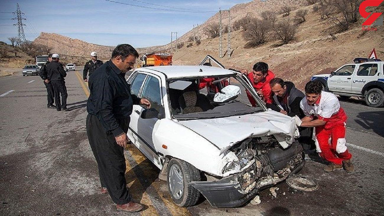 تصادف مرگبار  جاده ای در محور یاسوج ـ اصفهان / راننده پراید در دم جان باخت