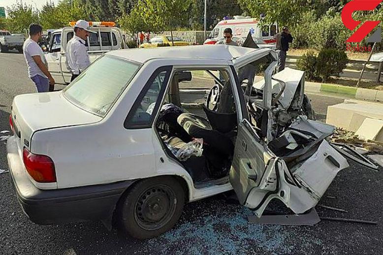 برخورد 3 خودرو در تبریز حادثه ساز شد