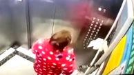 اقدام خجالت آور یک زن در آسانسور+فیلم